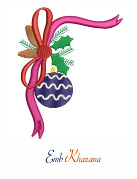 Christmas Bell Ribbon embroidery design