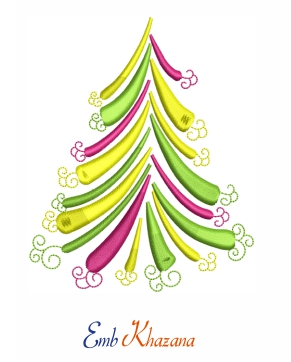 Christmas Tree Embroidery Design