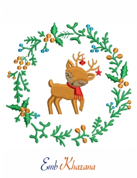 Christmas Deer Design