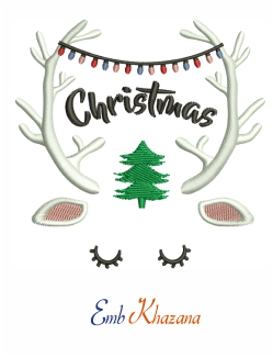 Christmas With Antler Design