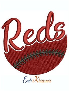 Cincinnati Reds Baseball Logo Machine Embroidery Design