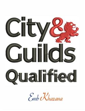 City and guilds logo embroidery design