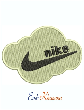 Nike Cloud Logo Embroidery Design