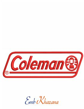 Coleman Logo Embroidery Design