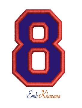 Collegiate Letter 8 Applique