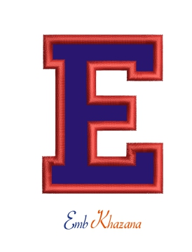 Collegiate Letter E Applique