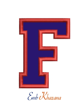 Collegiate Letter F Applique