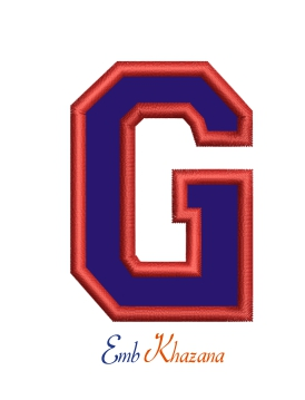 Collegiate Letter G Applique