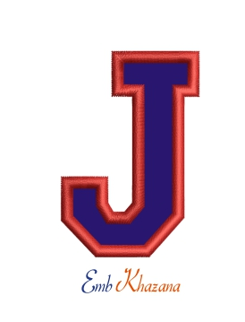 Collegiate Letter J Applique