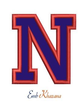 Collegiate Letter N Applique