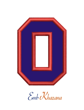 Collegiate Letter O Applique