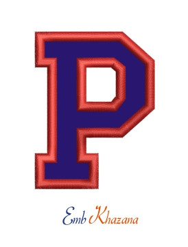 Collegiate Letter P Applique
