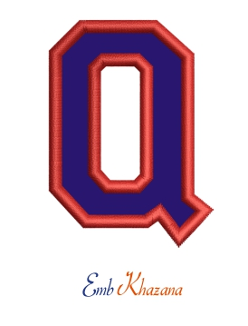 Collegiate Letter Q Applique