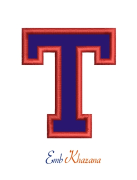 Collegiate Letter T Applique