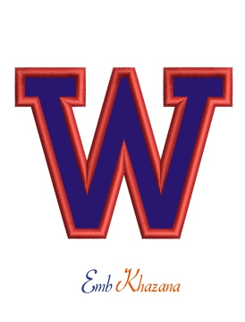 Collegiate Letter W Applique