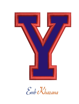 Collegiate Letter Y Applique