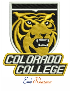 Colorado college tigers logo embroidery design