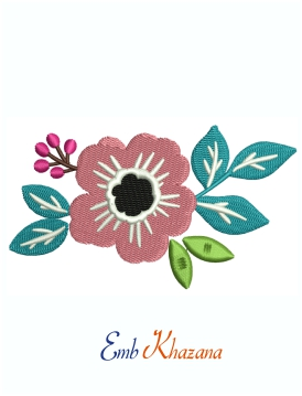 Colourful Flower Machine Embroidery Design