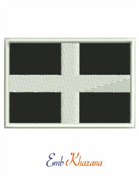 Cornwall Flag Embroidery Design