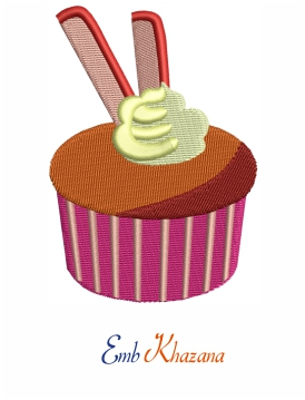 Cup Cake With Stick Design