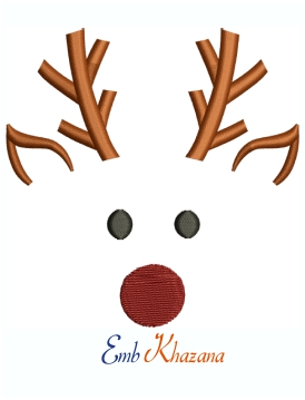 Cute Reindeer Boy Machine Embroidery Design