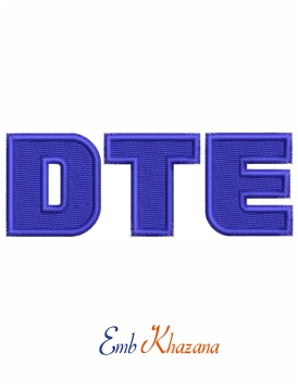 DTE Logo embroidery design