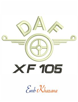 Daf xf logo embroidery design