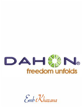 Dahon Logo Embroidery Design