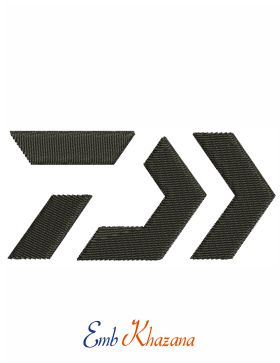 Daiwa Logo Embroidery Design