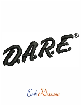 Dare Logo embroidery design