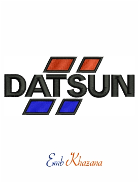 Datsun logo embroidery design