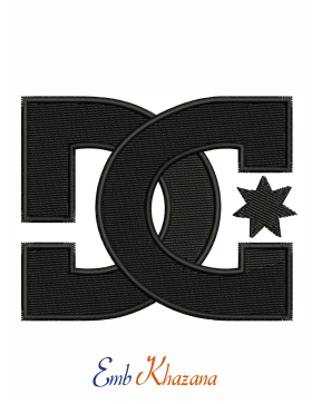 Dc Shoes Logo Embroidery Pattern