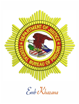 Department of justice seal embroidery design