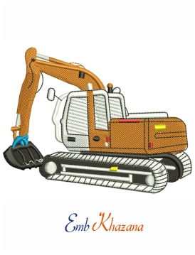 Digger Embroidery Design