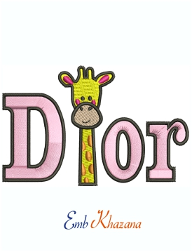 Dior Giraffe Machine Embroidery Design
