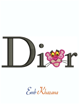 Dior Lion Logo Embroidery Design