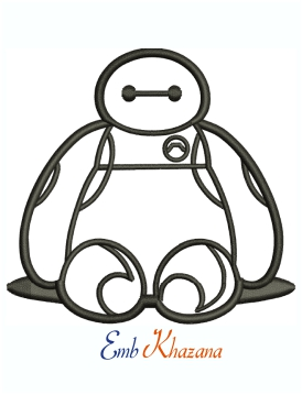Big Hero 6 Baymax Machine Embroidery Design