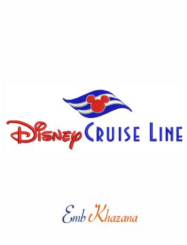 Disney Cruise Line Embroidery Design
