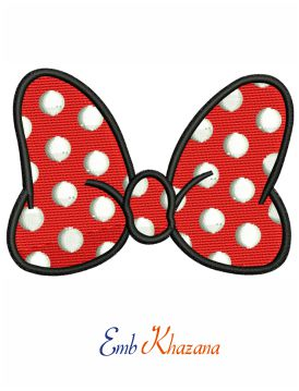 Disney Minnie Mouse Bow embroidery design