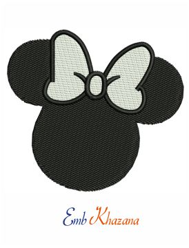 Disney Minnie Mouse embroidery design