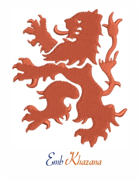 Dutch lion logo embroidery design