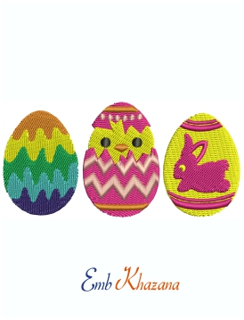 Easter Egg Machine Embroidery Design