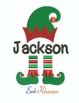 Elf Plant monogram Machine Embroidery Design