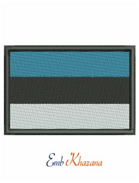 Estonian national flag embroidery design