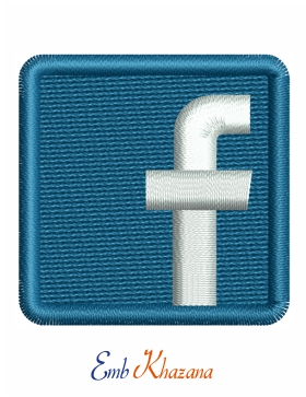 Facebook Logo Embroidery Pattern