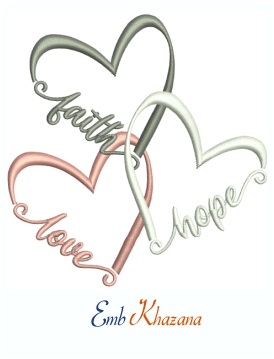 Faith Hope Love Machine Embroidery Design
