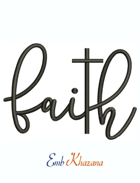 Faith Religion Jesus Machine Embroidery design
