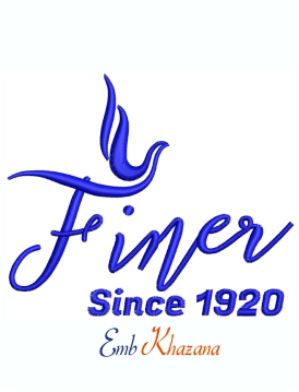 Finer Since 1920 Dove Logo Machine Embroidery Design
