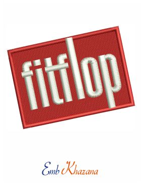 Fitflop Logo Embroidery Design