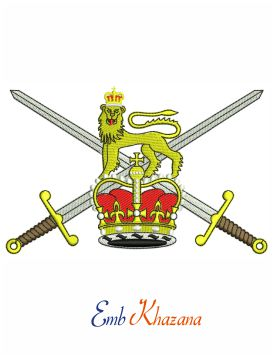 Flag Of The British Army embroidery design